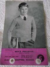 ORIGINAL VINTAGE PASSAP  MACHINE  KNITTING PATTERN, No. M201/21, BOY'S PULLOVER