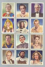 CIGARETTE CARDS.Phillips Tob.CHARACTERS COME TO LIFE (Films).(Set of 36).(1938).