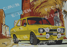 FORD ESCORT RS1600 MK1 par JICEHER dessin (8 ex disponibles).