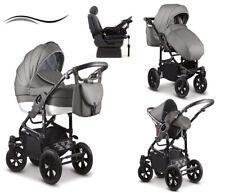 """4 in 1 Kinderwagen """"Cosmo"""" in 44 Farben ✔ Autositz + ISO ✔ 360° Vorderräder"""