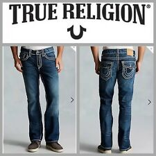 NEW $369 True Religion Ricky Straight-Relaxed Leg Button-Flap RopeStitch Jean 28