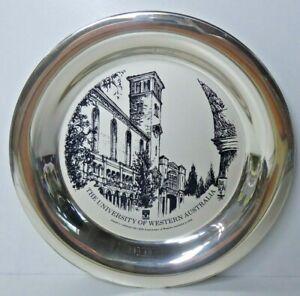 VINTAGE STERLING SILVER FRANKLIN MINT UNIVERSITY WA 150 YEAR COMMEMORATIVE PLATE