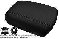 BLACK STITCH ARMREST LID GENUINE LEATHER COVER FITS HYUNDAI IX35 2010-2015