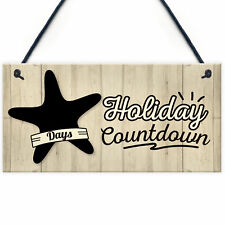 Chalkboard Holiday Countdown Hanging Sign Plaque Friendship Family Doorsign Gift