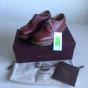 Dr Martens Vintage 3989 Oxblood Quilon Uk 10 Made In England