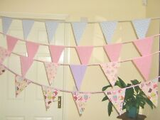 Cupcake Fabric Bunting Pink Lilac TEA PARTY Decorations Girls Party Nursery 10FT