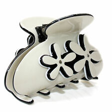 Moliabal Womens Large Hair Claw in Cream W/ Black Accents MSRP $50