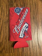 """Budweiser The King of Beers Big Boy 24 Oz Ounce Beer Can Koozie Red 7"""" Tall"""