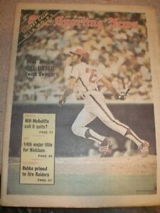 August 1973 The Sporting News - Del Unser Philadelphia Phillies Outfielder