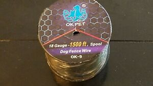 In-Ground Dog Fence Wire 18 Gauge 1500 ft Spool by OK Pet * NEW