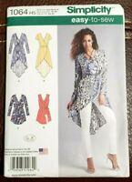 Simplicity Pattern 1064 Misses' Tunics w/Length Variations & Belt Size 6-14  New
