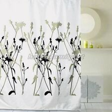 Multicolor Flower Black Picture Design Bathroom Fabric Shower Curtain ys159