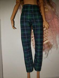 BLUE & GREEN PLAID Pants for SLIM KEN  or BARBIE