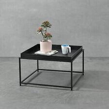 Beistelltisch Tabletttisch Metall Tisch Wohnzimmertisch Couchtisch Schwarz