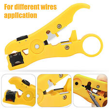 Rotary Coax Coaxial Cable Cutter Stripper Network Wire Universal Stripping Tool