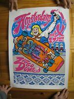 Pearl Jam Poster Amsterdam Skateboarder Holland June 27