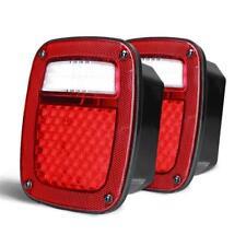 LED Rear Lamps 76-07 Tail Lights Reverse Brake Turn Signal For Jeep Wrangler TJ