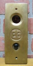 Old EE ELEVATOR PANEL IN USE & BUTTON Builidng Architectural Hardware