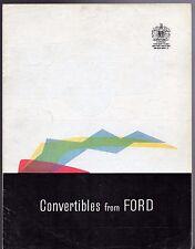 Ford Consul Zephyr Zodiac Mk2 Convertible 1959-61 UK Market Foldout Brochure