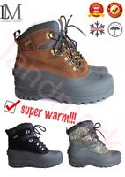 LM Brown Black Men's WlNTER Snow Shoes Warm Lined Thermolite Waterproof 8""