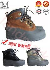 """LM Brown Black Men's Winter Snow Boots Warm Lined Thermolite Waterproof 8"""""""