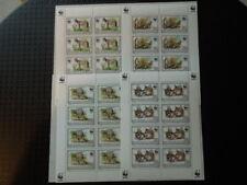 S1026 BURUNDI 1992 WWF SERVAL  4  X  MINIATURE  SOUVENIR SHEETS  MNH