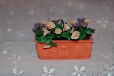 Doll House Outdoor Planter box with Flowers for Doll House Garden or Porch MIB