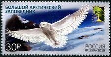 Owl mnh stamp 2018 Russia Bolshoi Arctic Reserve Bird
