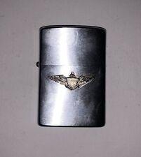 Briquet ZIPPO Vintage Années 80 Ancien Aigle Bradford PA Metal Argenté RARE