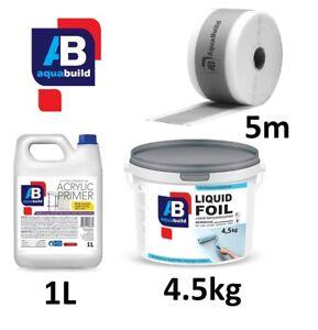 Waterproof Tanking Kit 4.5m² Wet Room System Shower Set Membrane + Tape + Primer