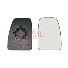 RENAULT MASTER 2011->2018 DOOR MIRROR GLASS SILVER,HEATED & BASE,RIGHT SIDE
