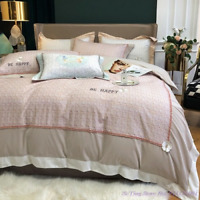 4pcs Bedding Set Ins Style Brushed Pure Cotton Light Luxury  Style Duvet Cover