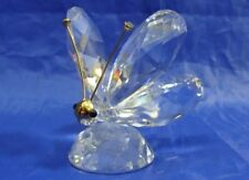 RETIRED SWAROVSKI CRYSTAL BUTTERFLY FIGURINE WITH GOLD ACCENTS 7667 NEW IN BOX