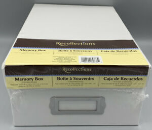 Recollections White Memory Box(10 Dividers, Holds 1000+ Photos Or 14 DVD-18 CD)