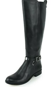 MICHAEL KORS ARLEY BLACK LEATHER EQUESTRIAN RIDING BOOTS SIZE 6 1/2
