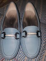 Russell & Bromley (Marc Joseph) Blue Slip On Loafers  4 UK Designer Brand