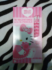 Sanrio Hello Kitty 16 Valentines With 16 Pencils New Old Stock 2013 Paper Magic