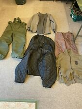Job lot European military surplus cold weather clothing liners trousers etc