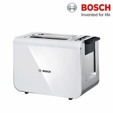 Bosch TAT8611GB Styline 2 Slice Compact Toaster White With Defrost & Re-Heat