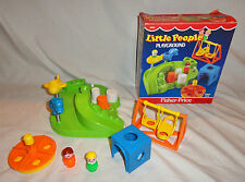 Vintage Fisher Price Little People 1986, #2525 Playground,Complete, with Box