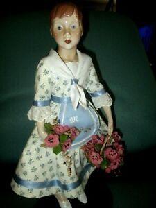 1987 Marianne Doll Bing & Grondahl Bambola 'dell Anno Porcelain Doll of the Year