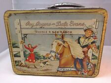 ROY ROGERS AND DALE EVANS DOUBLE R BAR RANCH OLD LUNCHBOX COWBOY WESTERN USA T*