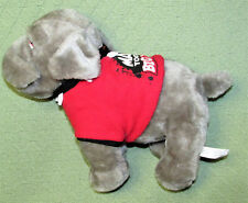 "12"" Mac Tools Big Dawg Plush Stuffed Bull Dog Gray Red Shirt Spiked Collar 2013"