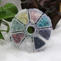 1 Box 8 Mini Natural Crystal Quartz Stone Chip Mineral Specimen Reiki Healing