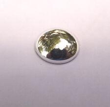 6 pcs VINTAGE SILVER PLATE 8 mm rnd  acrylic flat back cabochon stone beads