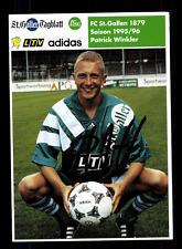 Patrick Winkler Autogrammkarte FC St Gallen 1995-96 Original Signiert+A 148575
