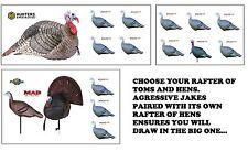 Turkey Jake Hen Combo Rafters Gobbler Brood Hunting Jake Jenny King Strut Decoys
