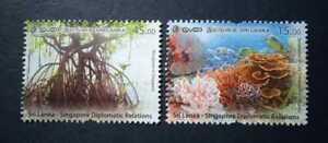 Sri Lanka Stamp Sri Lanka Singapore Relations Joint Issue Stamp set 2021