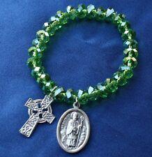 Religious Saint Patrick Stretch Saint Medal Charm Bracelet