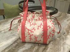 Kate Spade Coral Print Tote Handbag.
